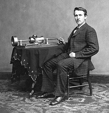 Edison and Brady Phonograph 1878
