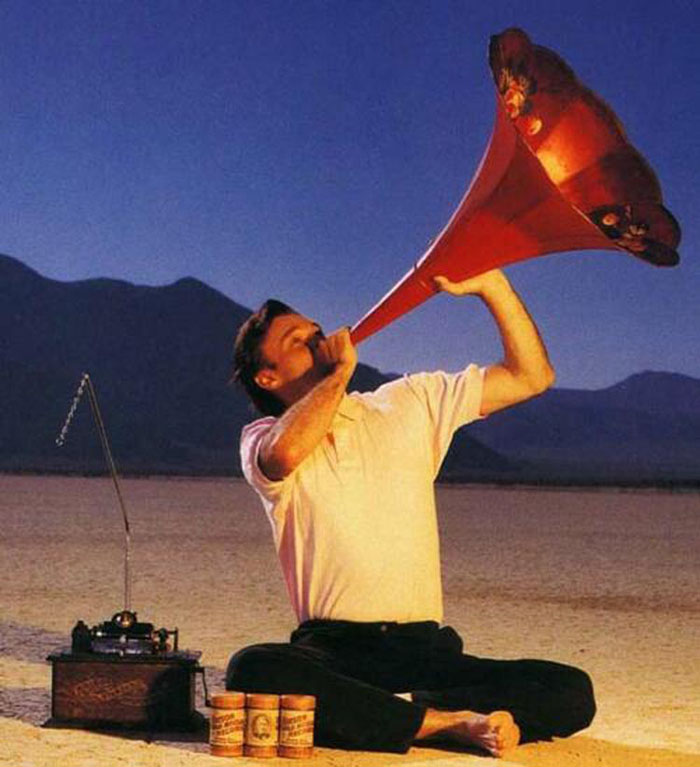 DB on the Black Rock Desert celebrating the Phonograph